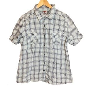 The North Face Button Up Plaid Short Sleeve Shirt